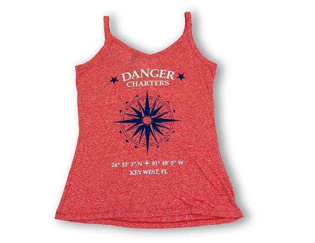 Women's burnout danger tank tops