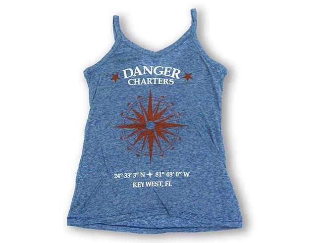 color fusion Women's burnout danger tank tops