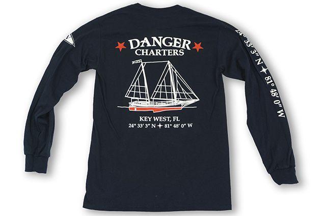 Long Sleeve Tee- Danger Boat Logo