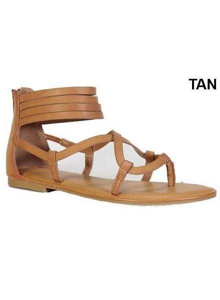 Strappy Tan Sandal