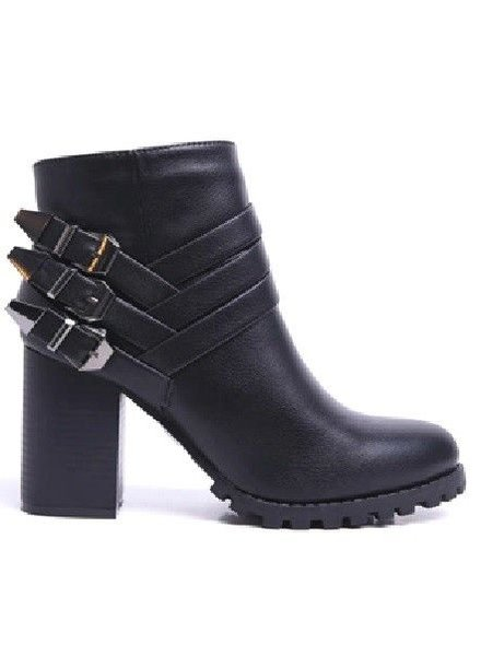Black Moto Boot