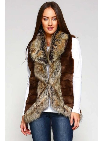 Brown Fur Inspired Vest