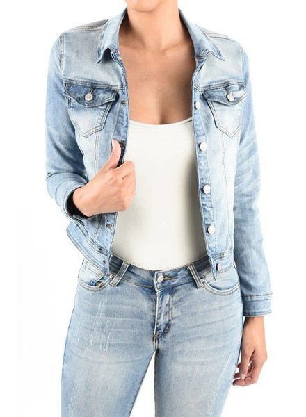 Medium Light Blue Denim Jacket