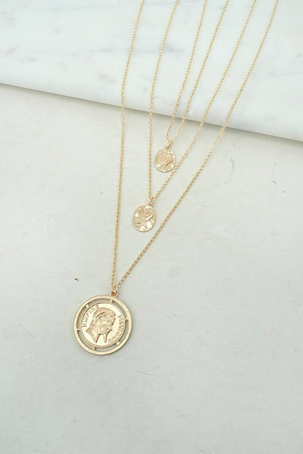 via necklace golden etsy pin goldfilled pendant gold coin