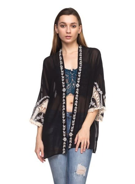 Embroidery Robe Jacket