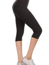 Black Yoga Capri Leggings