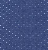 Robert Kaufman Cotton Chambray Dots: Royal