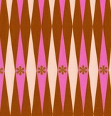 Cotton + Steel Playful by Melody Miller: Backgammonish Pink Rust
