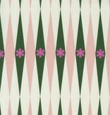 Cotton + Steel Playful by Melody Miller: Backgammonish Green Natural