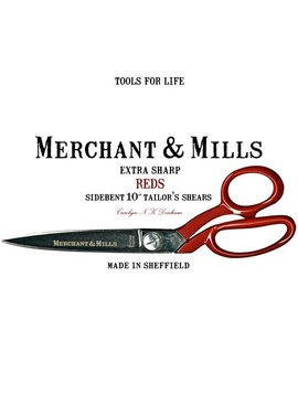 "Merchant & Mills Merchant & Mills Reds Extra Sharp Tailor's Shears 10"" Scissors"