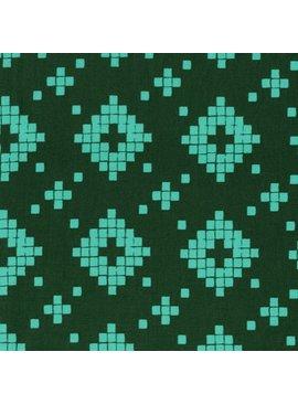 Cotton + Steel Mesa by Alexia Abegg: Tile Evergreen