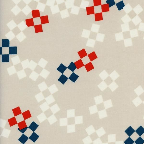 Cotton + Steel Frock by Melody Miller: Pixel Print Bowling Pin Rayon