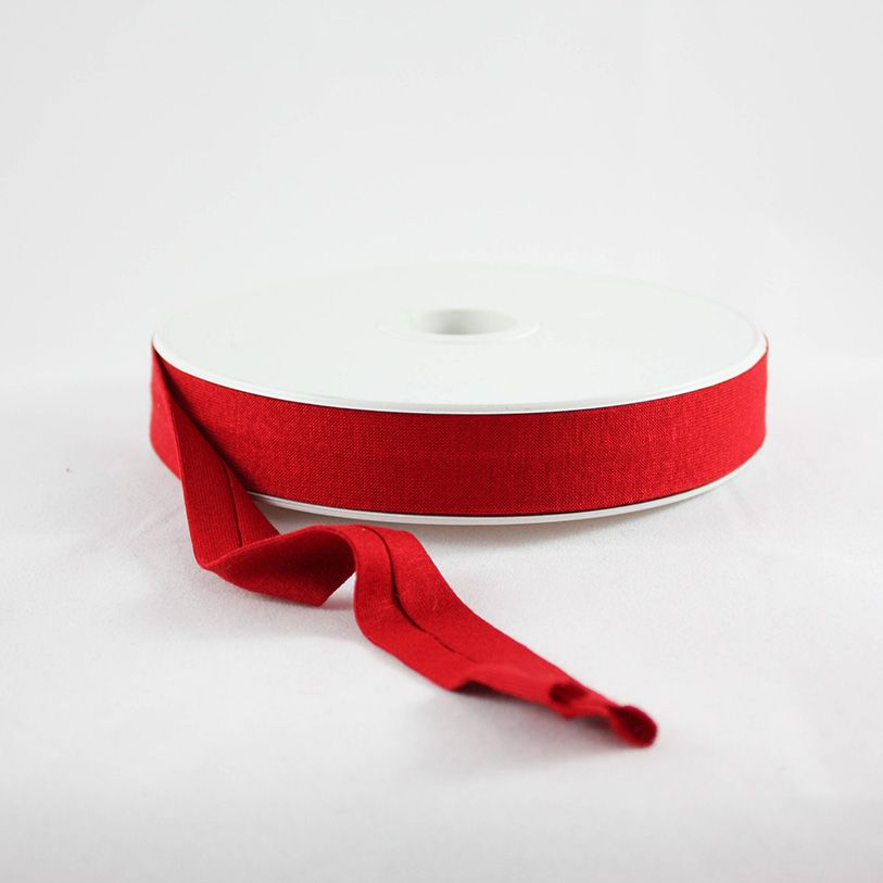 Products from Abroad Knit Jersey Bias Tape Red (Viscose)
