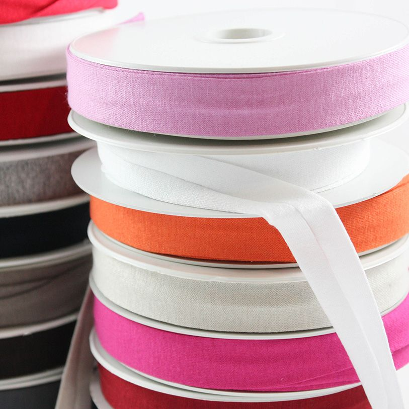 Products from Abroad Knit Jersey Bias Tape Ivory (Viscose)