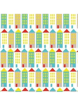 Cloud 9 Small World Corduroy by Rae Hoekstra: Buildings