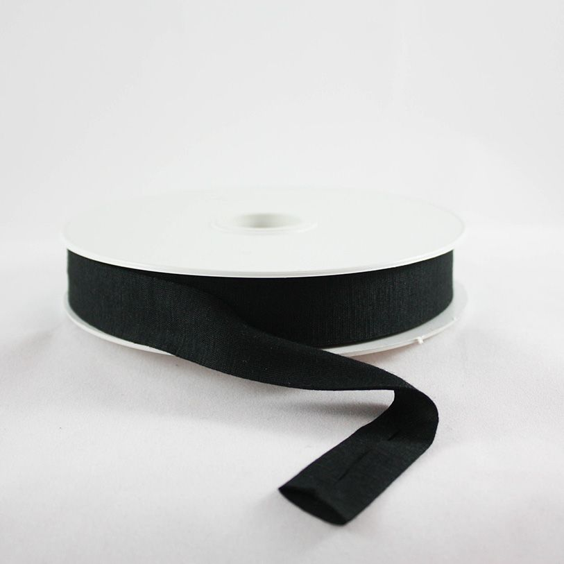 Products from Abroad Knit Jersey Bias Tape Black (Viscose)