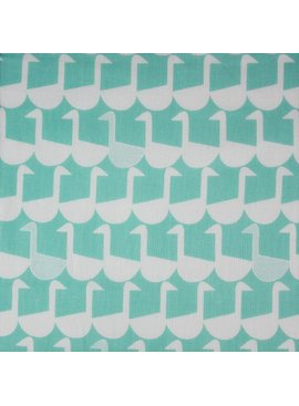 Kokka Framework Collection by Ellen Luckett Baker: Sitting Geese Double Gauze Aqua