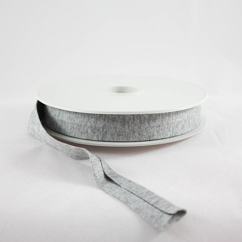 Products from Abroad Knit Jersey Bias Tape Heather Grey