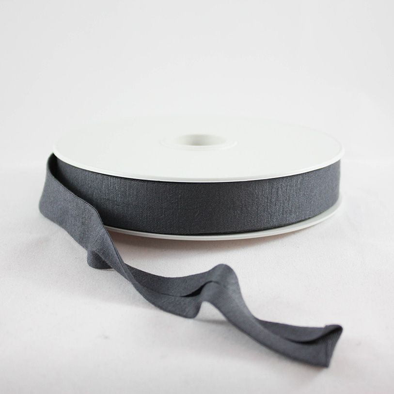 Products from Abroad Knit Jersey Bias Tape Charcoal