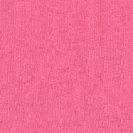 Robert Kaufman Essex Solid Pink