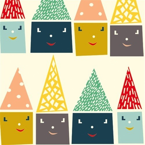 Birch Fabrics Happy Town-Happy Houses