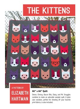 Elizabeth Hartman The Kittens Quilt Pattern by Elizabeth Hartman
