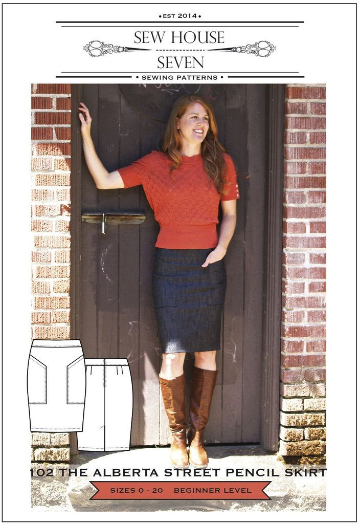 Sew House Seven Pattern Alberta Street Pencil Skirt
