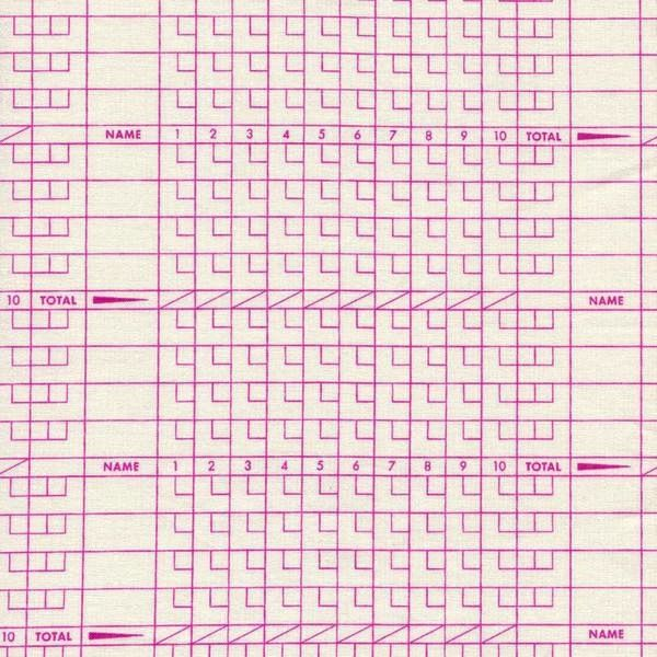 Cotton + Steel Lucky Strikes by Kim Kight: Score Card Dark Plum