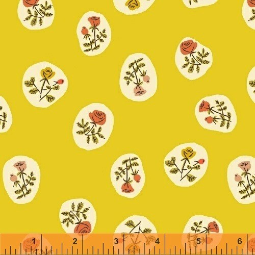 Windham Fabrics Tigerlily-Small Roses Yellow
