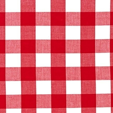 "Robert Kaufman Carolina Gingham 1"" Red"