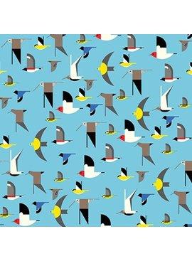 Birch Fabrics Maritime: Birds Multi by Charley Harper
