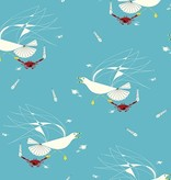Birch Fabrics Maritime: Seagull and Crab by Charley Harper