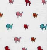 Cotton + Steel Clover by Alexia Marcelle Abegg: Dog Lions Pink Double Gauze
