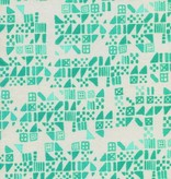 Cotton + Steel Clover by Alexia Marcelle Abegg: Tiny Tiles Aqua