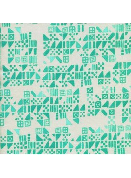 Cotton + Steel Clover by Alexia Marcelle Abegg: Tiny Tiles Aqua
