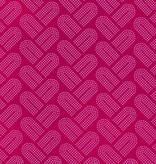 Cotton + Steel Macrame by Rashida Coleman-Hale: Braidy Fuschia