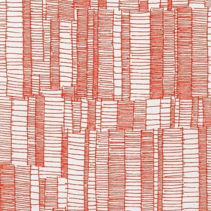 Robert Kaufman Carkai/Doe by Carolyn Friedlander Tangerine