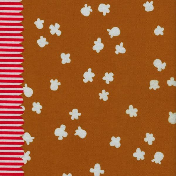Cotton + Steel Penny Arcade by Kim Kight: Popcorn Caramel