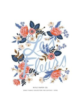 Cotton + Steel Cotton + Steel: Rifle Paper Co - 22 piece Les Fleurs Fat Quarter Bundle (cotton + cotton/linen blends)