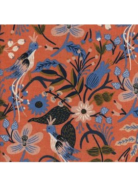 Cotton + Steel Cotton + Steel: Les Fleurs Rifle Paper Co - Folk Birds Canvas - Peach