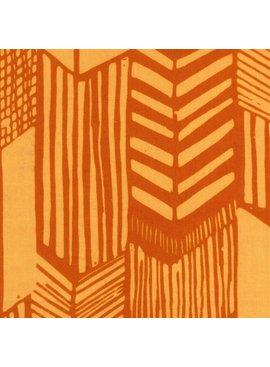 Hoffman Fabrics Me + You Indah Batik Feathered Arrows Sunflower