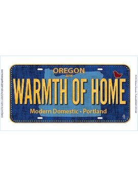 "Zebra Patterns ""Warmth of Home"" Row by Row Fabric License Plate from MD"