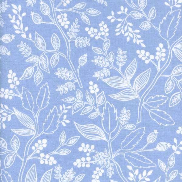 Cotton + Steel Cotton + Steel: Les Fleurs Rifle Paper Co - Queen Anne - Pale Blue