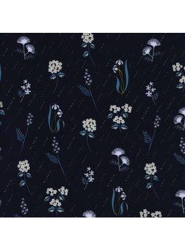 Cotton + Steel Raindrop by Rashida Coleman-Hale: In Bloom Night
