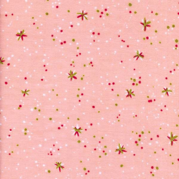 Cotton + Steel Rotary Club by Kimberly Club: Space Thistles Pink Double Gauze
