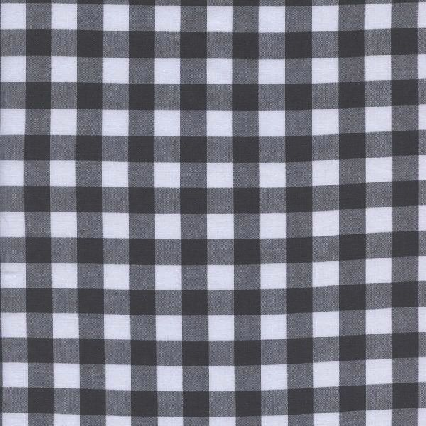 "Cotton + Steel Checkers: 1/2"" Gingham - Chalkboard"