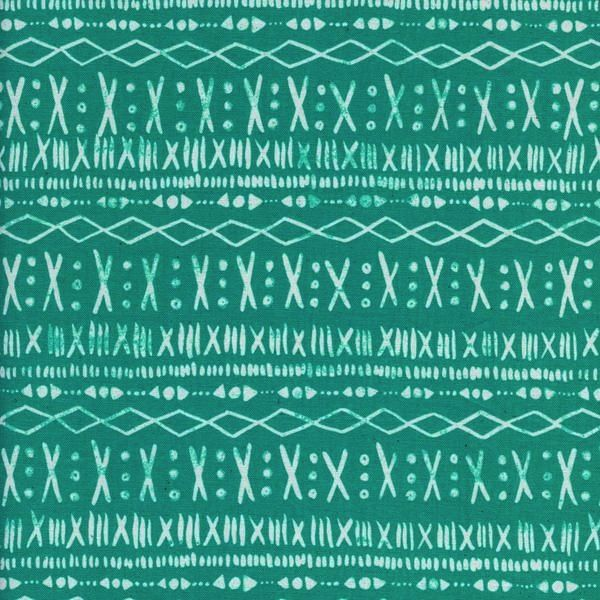 Cotton + Steel Print Shop by Alexia Abegg: Stitch - Turquoise