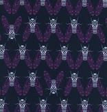 Cotton + Steel Raindrop by Rashida Coleman-Hale: Cicada Song Teal