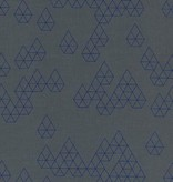 Cotton + Steel Raindrop by Rashida Coleman-Hale: Geo Drops Denim