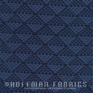 Hoffman Fabrics Me + You Hand Dyed Batiks Indigo
